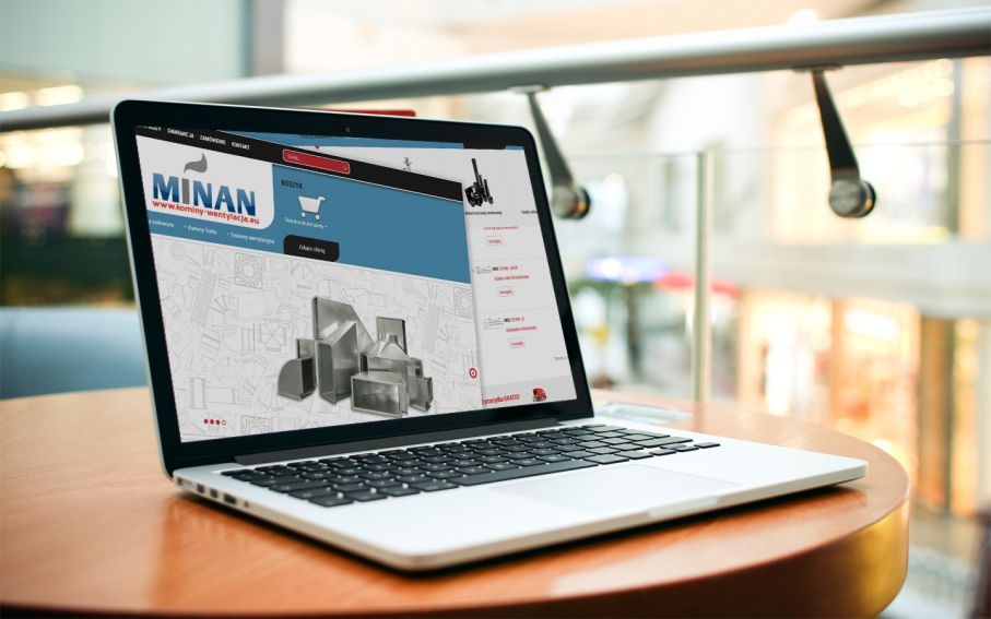 Strona sklepu internetowego Minan